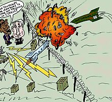 Barack and Bibi review the rocket-repelling Iron Dome by Binary-Options