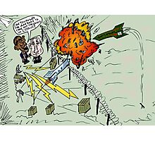 Barack and Bibi review the rocket-repelling Iron Dome Photographic Print