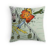 Barack and Bibi review the rocket-repelling Iron Dome Throw Pillow