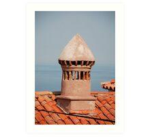 Chimney in Piran Art Print