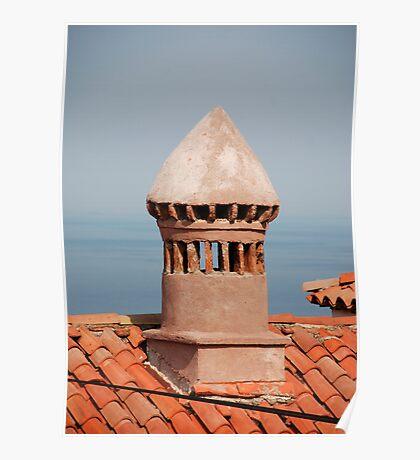 Chimney in Piran Poster