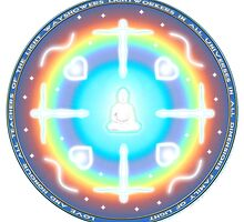 Teacher of Light Lightworker Mandala by Martin Rosenberger