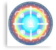 Teacher of Light Lightworker Mandala Canvas Print