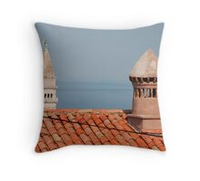 Chimneys in Piran, Slovenia Throw Pillow