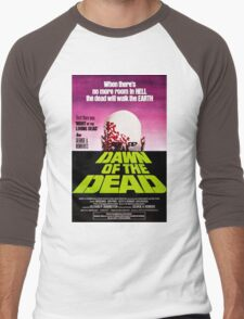 Dawn Of The Dead Movie Poster Men's Baseball ¾ T-Shirt