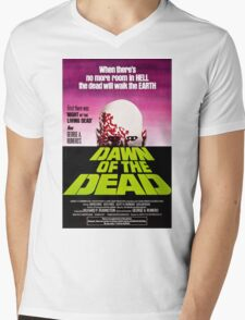Dawn Of The Dead Movie Poster Mens V-Neck T-Shirt