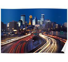 Minneapolis Night Lights 2 Poster