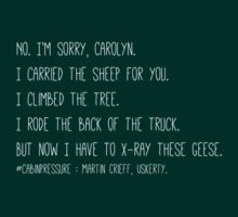 "Cabin Pressure - Quote ""Goose"" T-Shirt"