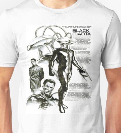 Black Manta Info Page Unisex T-Shirt
