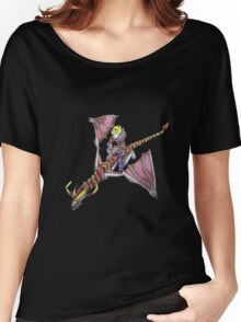 Ezreal riding Shyvana as Eragon with Saphira Women's Relaxed Fit T-Shirt
