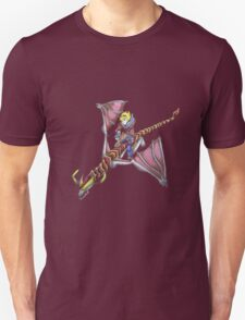 Ezreal riding Shyvana as Eragon with Saphira Unisex T-Shirt
