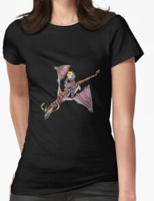 Ezreal riding Shyvana as Eragon with Saphira Womens Fitted T-Shirt
