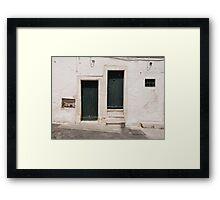 Green Doors in Ostuni Framed Print