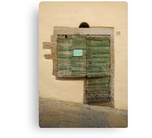 Old Wooden Door in Tuscany Canvas Print