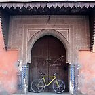Bike in Old Ornate Doorway, Marrakech by jojobob