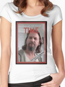 The Dude - Time Magazine Man of the Year Women's Fitted Scoop T-Shirt
