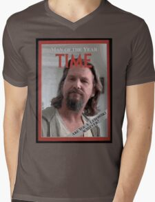 The Dude - Time Magazine Man of the Year Mens V-Neck T-Shirt
