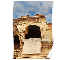 Archway Details at the Colosseum Poster