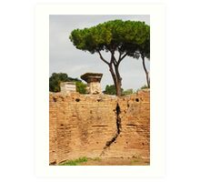 Wall, Roman Forum Art Print