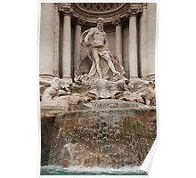 Oceanus Statue in the Trevi Fountain Poster