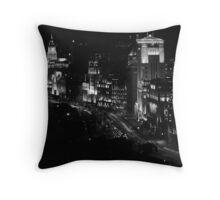 Shanghai's Bund Throw Pillow
