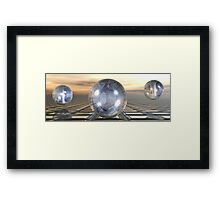 Three Spheres Framed Print
