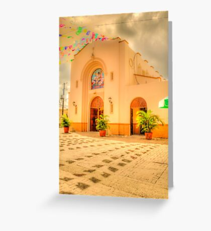 The Church in Downtown Cozumel, Mexico Greeting Card