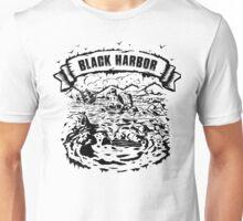 Black harbor drowning ship illustration Unisex T-Shirt