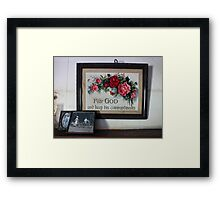 Antique Mantelpiece Still Life III Framed Print