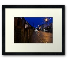 Broadway Christmas day 2012 Didcot  Framed Print