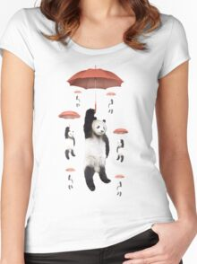 Pandachutes Women's Fitted Scoop T-Shirt