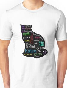 A Cat of Many Languages Unisex T-Shirt