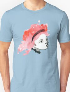 Redhead Watercolor girl T-Shirt
