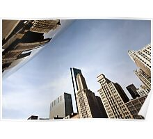 Chicago Cityscape downtown Millenium Park Michigan Avenue The Bean Poster