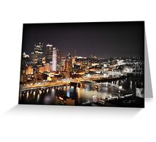 Greetings from Mt Washington, Pittsburgh, Pennsylvania Greeting Card