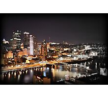 Greetings from Mt Washington, Pittsburgh, Pennsylvania Photographic Print
