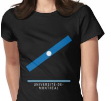 Station Université-de-Montréal Womens Fitted T-Shirt