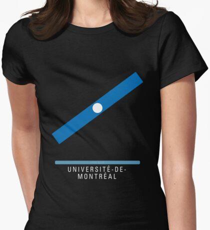 Station Université-de-Montréal Womens Fitted T-Shirt