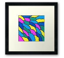 THE COLOR WAVE Framed Print
