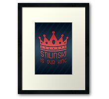 Stilinski Is Our King Framed Print