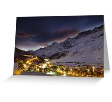 A town under the stars Greeting Card