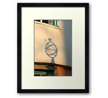 Globe Shadow Framed Print