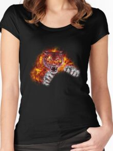 Fire Tiger Women's Fitted Scoop T-Shirt