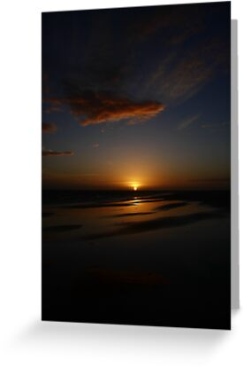Mirror Beach Sunset by fototaker