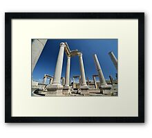 Ancient columns of Perge Framed Print