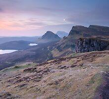 Isle of Skye : Quiraing Moonset by Angie Latham