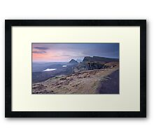 Isle of Skye : Quiraing Moonset Framed Print