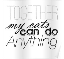 Together, My Cats Can Do Anything Poster