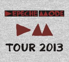 Depeche Mode : Tour 2013 poster only Title by Luc Lambert