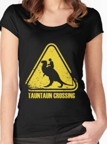 Beware! Tauntaun Crossing! Women's Fitted Scoop T-Shirt
